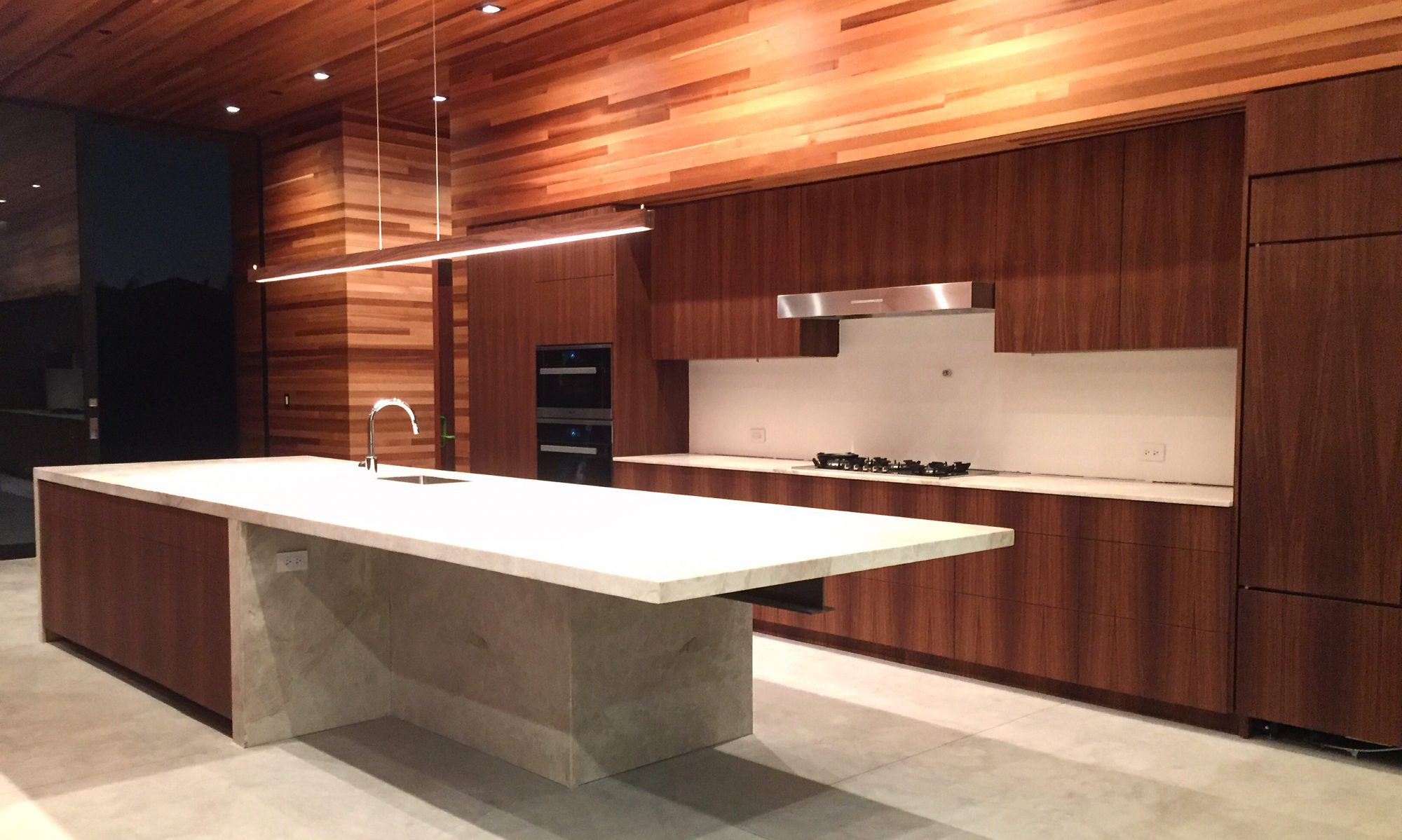 Modern cabinets made with walnut wood in los angeles for American woodcraft kitchen cabinets